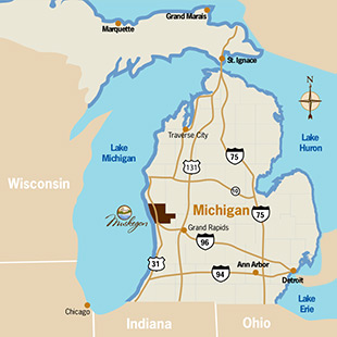 Muskegon Highway Map