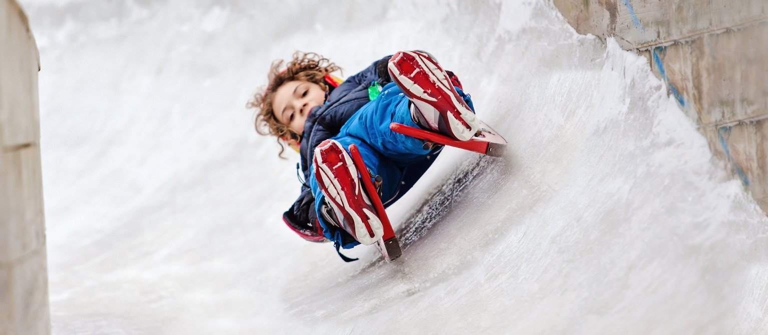 Child on Luge Run