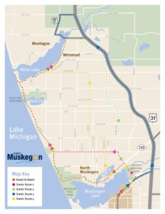 Muskegon CVB Scenic Route Map | Visit Muskegon