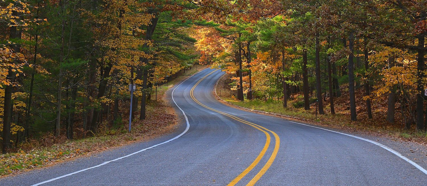 Muskegon County Roadway in Autumn
