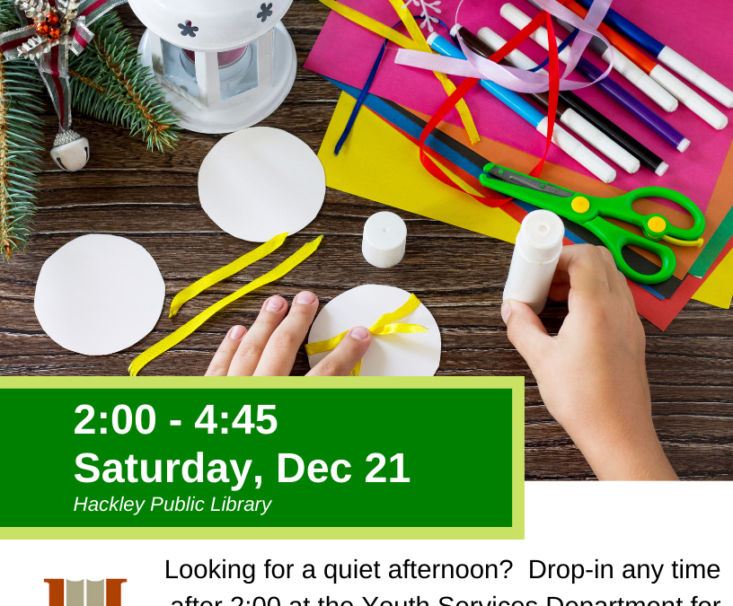 Holiday Crafts at Hackley Library