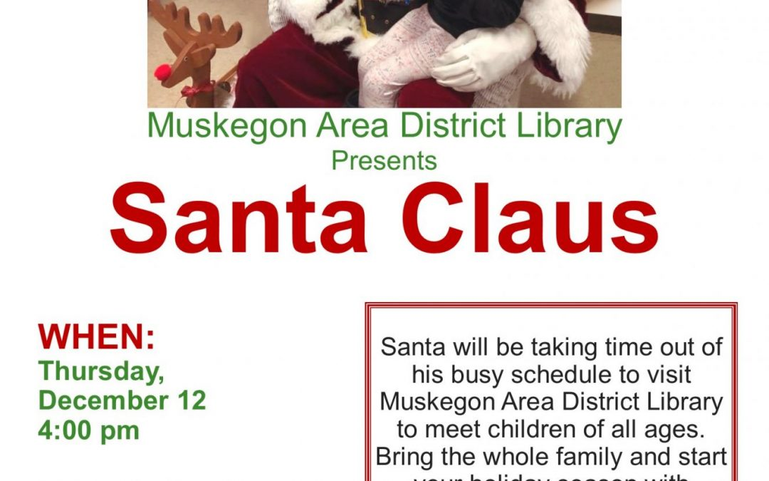 Santa at Dalton Library