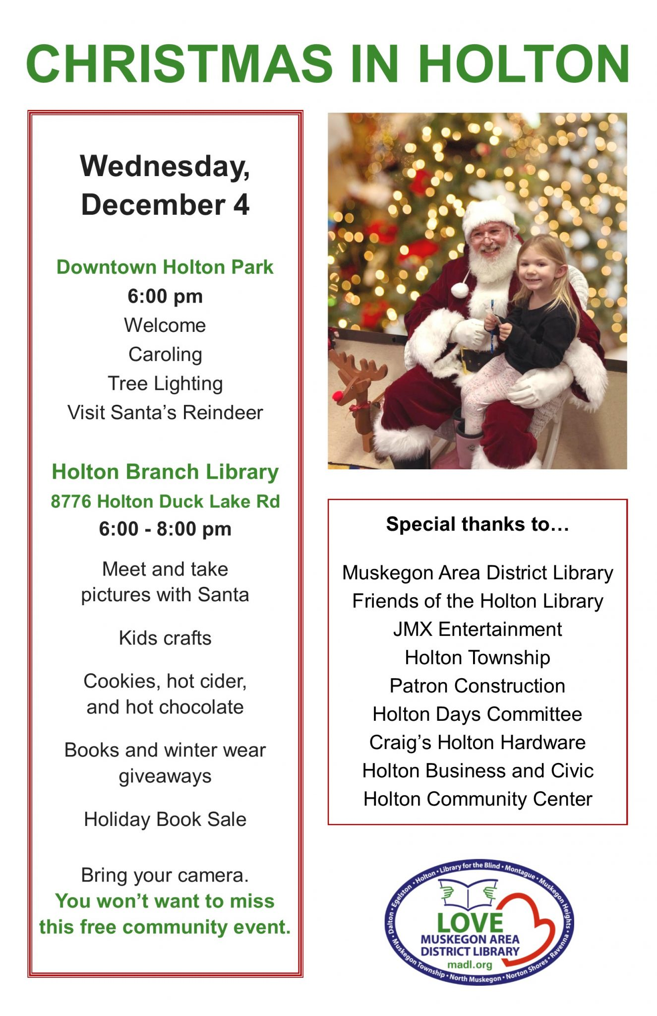 Christmas Holiday Events In Muskegon Mi 2020 Christmas in Holton   Visit Muskegon