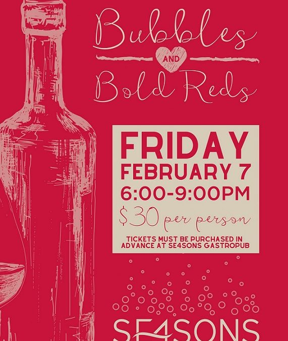 Bubbles & Bold Reds Wine Tasting