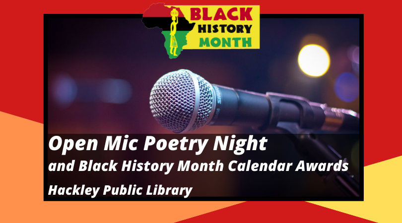 Poetry Open Mic Night & Black History Month Calendar Awards