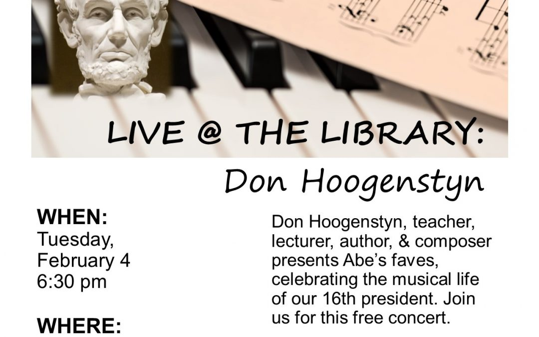 Live at the Library:  Don Hoogenstyn