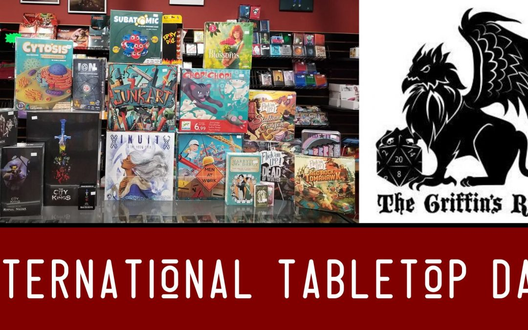 International Tabletop Day: CANCELLED