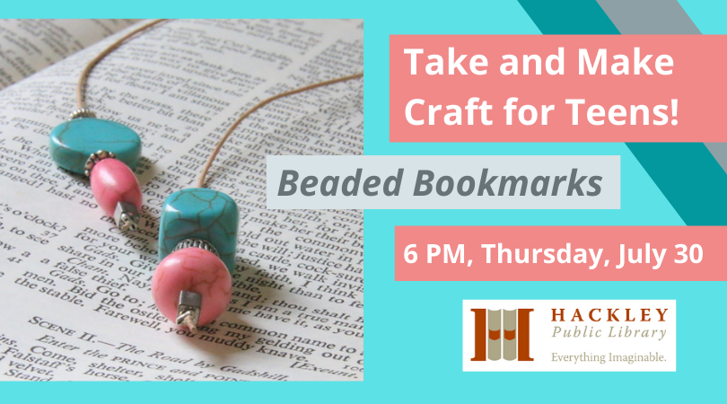 Take and Make Craft for Teens: Beaded Bookmarks