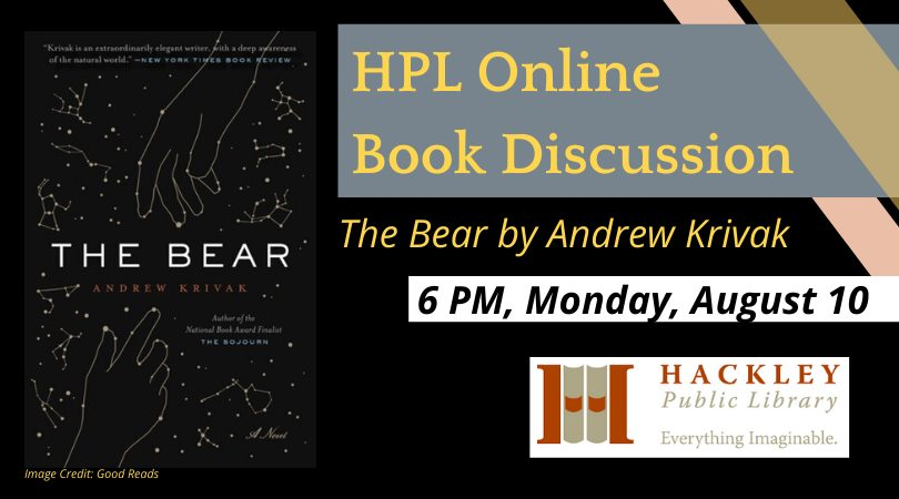 The Bear – Hackley Library Online Book Discussion