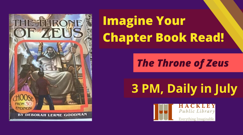 Imagine Your Chapter Book Read! The Throne of Zeus – Hackley Library