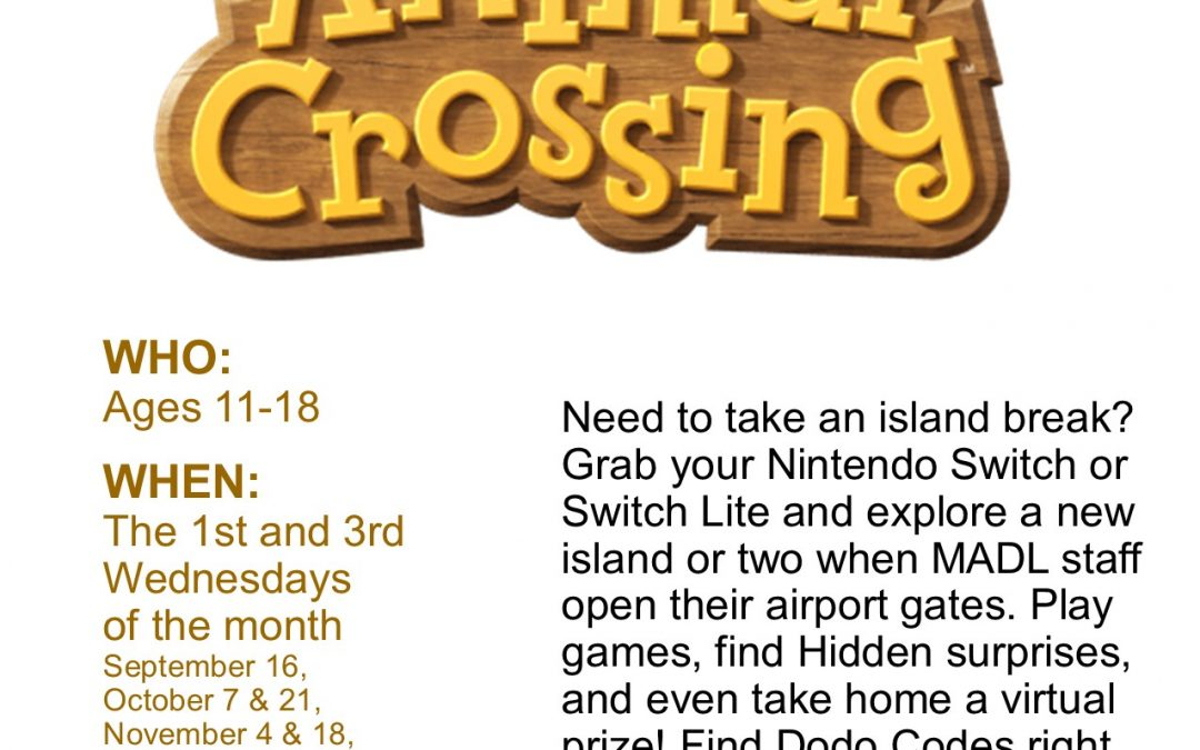 Animal Crossing with Muskegon Area District Libraries