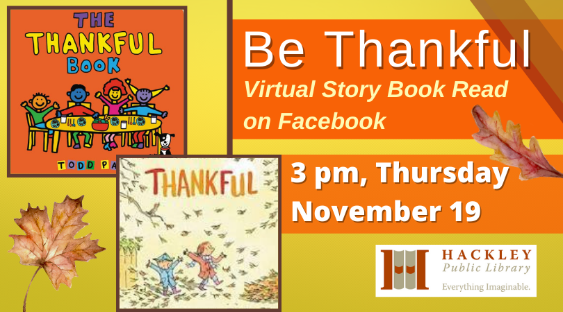Be Thankful – Story Book Read on Facebook