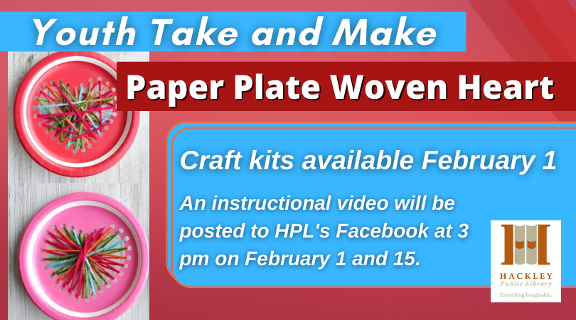 Youth Take and Make Craft – Paper Plate Woven Heart