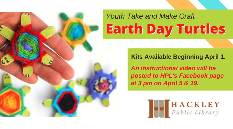 Youth Take and Make Craft – Earth Day Turtles