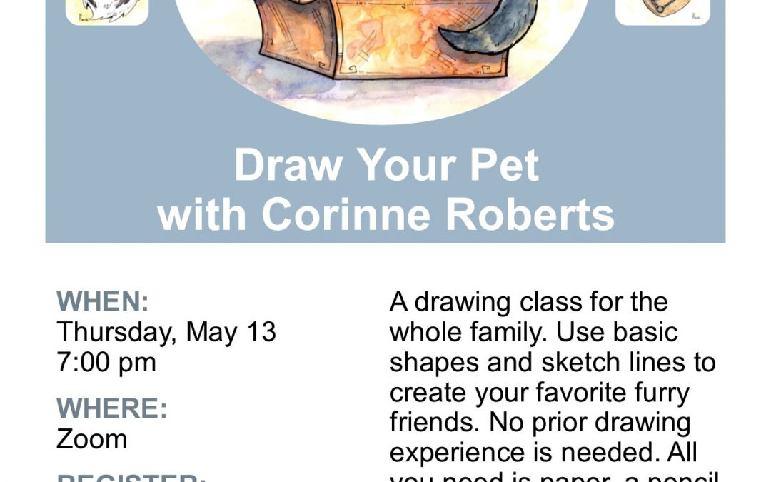 Draw Your Pets with Corinne Roberts