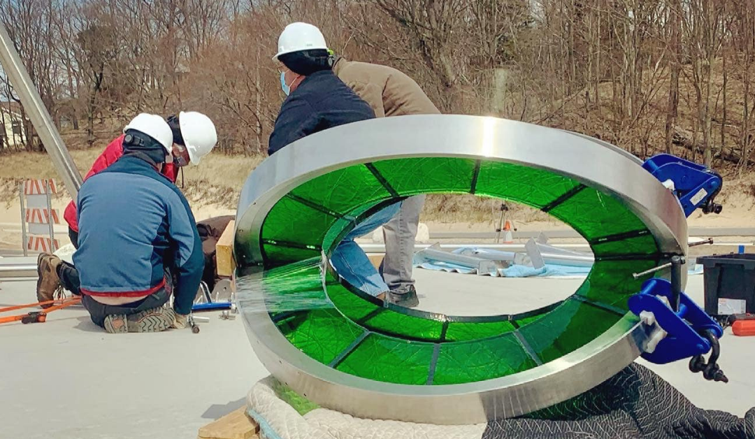 """""""Celebrating Muskegon"""" Muskegon's Newest Sculpture Comes to Pere Marquette Beach."""