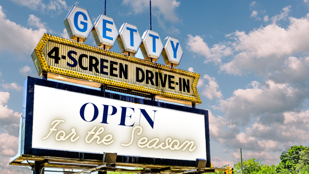 drive in movie theater marquee