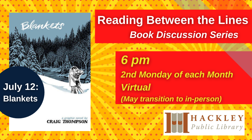 """""""Blankets"""" – Reading Between the Lines Book Discussion"""
